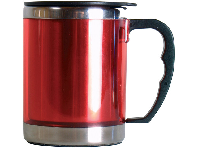 Basic Nature Stainless Steel Thermal Cup 420ml, fire red
